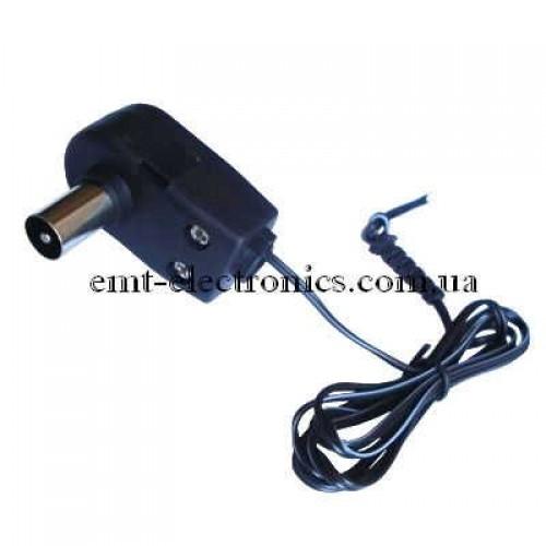 Штекер симметризатор, к блоку питания антенны, с каб. 1м