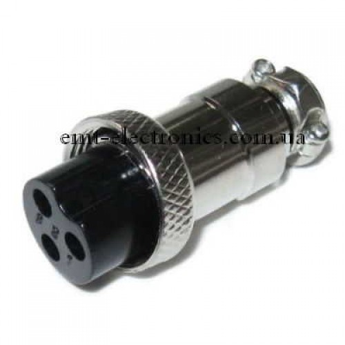 Разъём F микрофонный, 3pin, под кабель