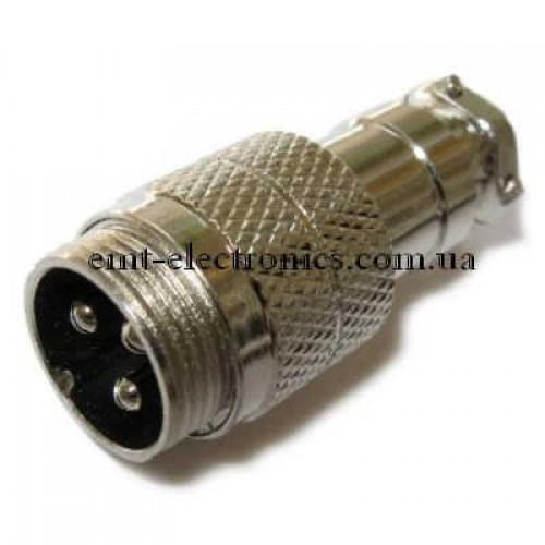 Разъём М микрофонный, 3pin, под кабель