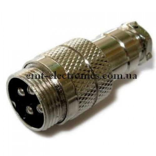 Разъём М микрофонный, 4pin, под кабель