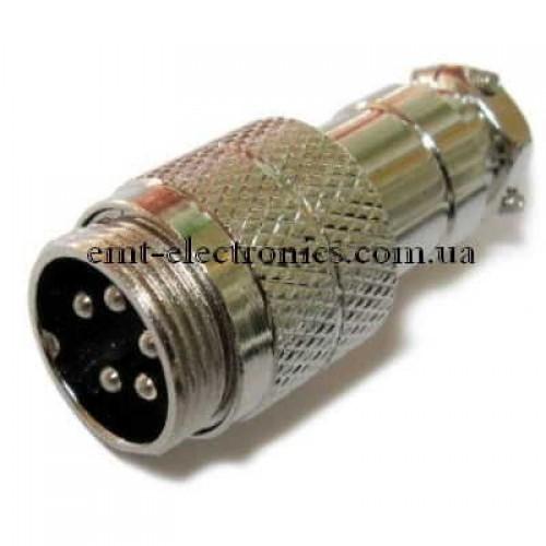 Разъём М микрофонный, 5pin, под кабель