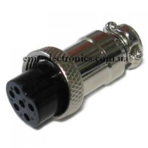 Разъём F микрофонный, 6pin, под кабель
