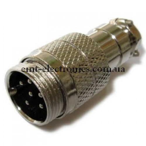 Разъём М микрофонный, 6pin, под кабель