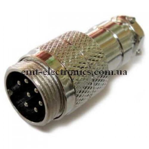 Разъём М микрофонный, 7pin, под кабель