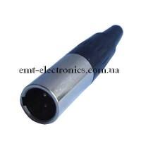 Штекер mini CANON, под шнур, 3-х контактный