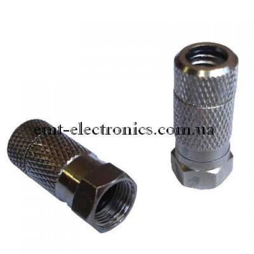 Штекер F для кабеля RG-6, накрутка, водонепроницаемый