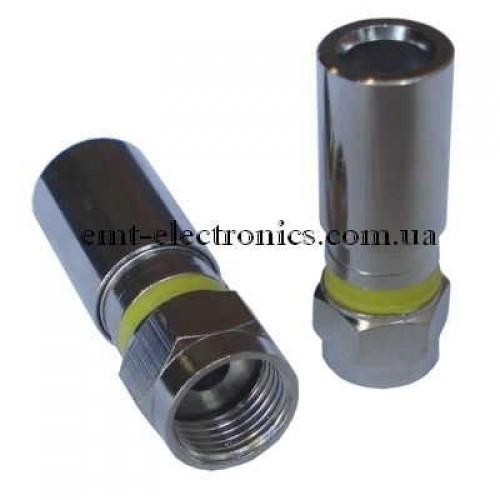 Штекер F для кабеля RG-6, компрессионный, водонепроницаемый