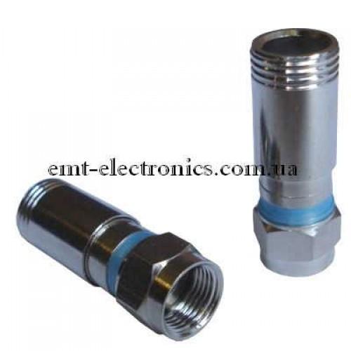 Штекер F для кабеля RG-6, компрессионный
