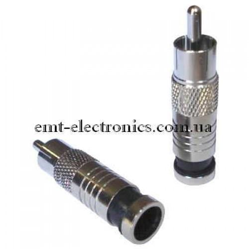 Штекер RCA для кабеля RG-6, компрессионный