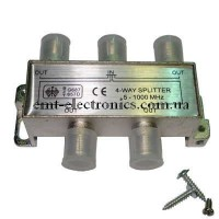 Разветвитель (сплиттер) антенный на 4 выхода