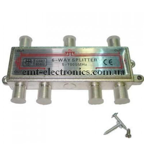 Разветвитель (сплиттер) антенный на 6 выходов