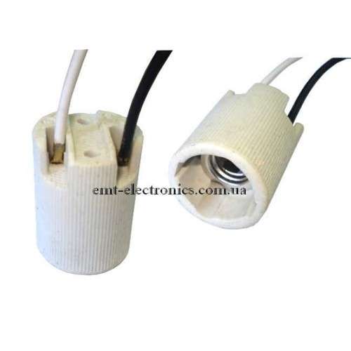 Патрон керамический, с проводами Е14