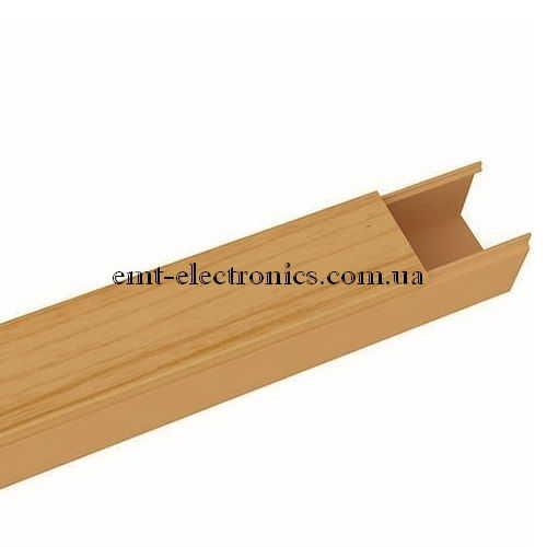 Кабель-канал (T-Plast) 15х10мм, с текстурой тёмный дуб, 2м