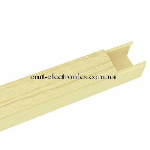 Кабель-канал (T-Plast) 20х10мм, с текстурой светлый дуб, 2м
