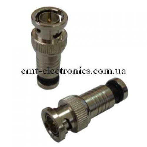 Штекер BNC под кабель (RG-59), компрессионный