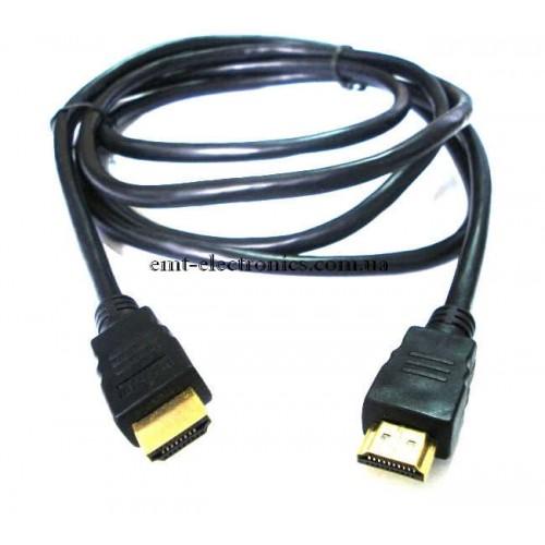 Шнур HDMI - HDMI ver.1.4, диам.- 6мм, 1м