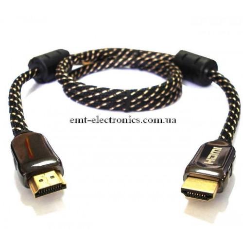 Шнур HDMI - HDMI ver.1.3, диам. - 7мм,  1м