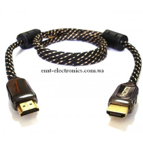 Шнур HDMI - HDMI ver.1.3, диам. - 8мм,  10м