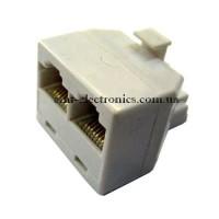 Компьютерный переходник 1 шт. - 2 гн. RJ-45 (8p8c)