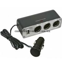 Разветвитель автомобильный 1х3 + 1 USB