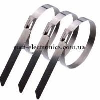 Стяжки металлические 200х4,6мм с фиксирующим элементом (10шт.)