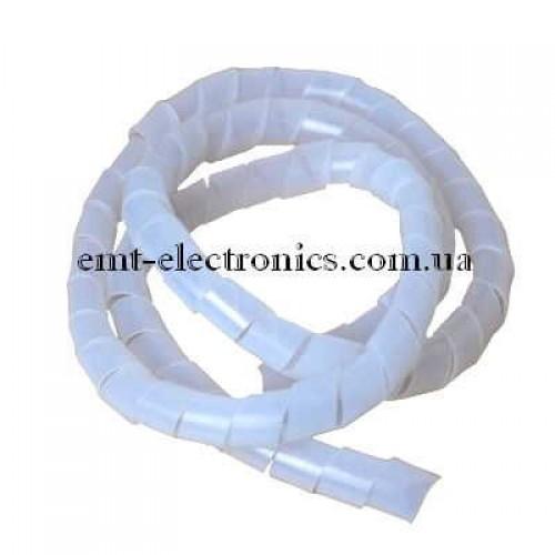 Спиральная оплётка (кабельный бандаж) 12х15мм, 5 метров