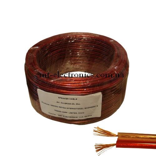 Кабель акустический (медный) 2x0,57кв.мм., красно-чёрный, 25м