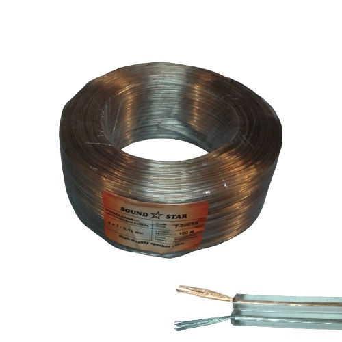 Кабель акустический (биметалл) 2х0,08кв.мм, прозрачный, 100м