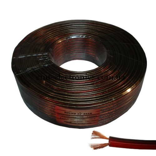Кабель акустический (биметалл) 2x0,57кв.мм., красно-чёрный, 100м