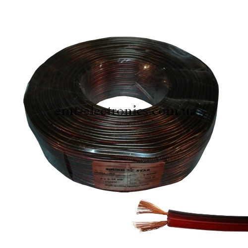Кабель акустический (медный) 2x0,34кв.мм., красно-чёрный, 100м