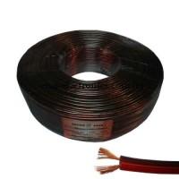 Кабель акустический (медный) 2x0,57кв.мм., красно-чёрный, 100м