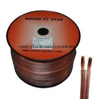 Кабель акустический (медный) 2x1,5кв.мм., прозрачно-розовый, 100м