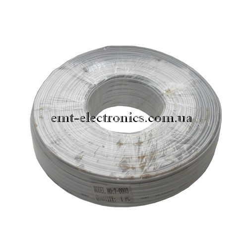 Кабель телефонный 4-х жильный, белый (100м)