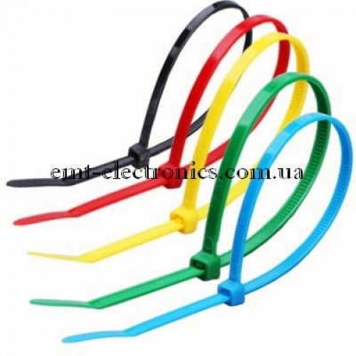 Набор цветных стяжек 100х2,5мм, 5 цветов по 40 шт.
