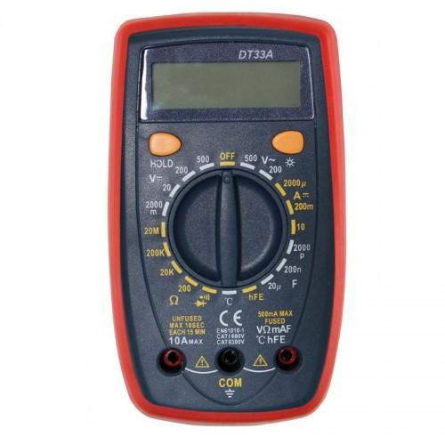 Цифровой мультиметр DT33A с подсветкой и термопарой DIGITAL