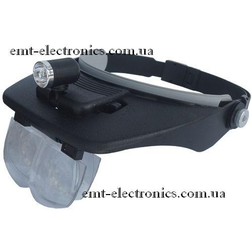 Лупа бинокулярная налобная (линза стекло) 1,2Х-3,5Х