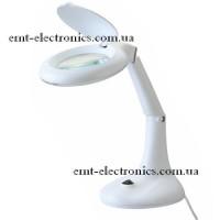 Лупа-лампа с LED подсветкой 3Вт, настольная, 3+12-и кратное увеличение