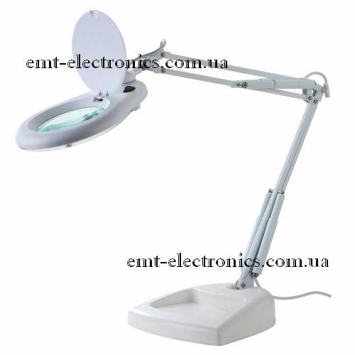 Лупа-лампа с LED подсветкой 7Вт, настольная, х5 увеличение