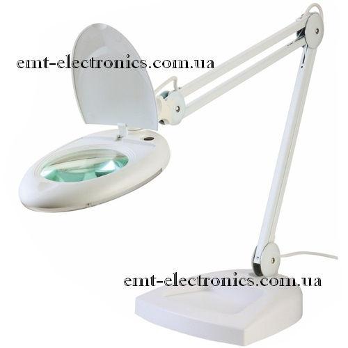 Лупа-лампа с LED подсветкой, настольная, x5 увеличение
